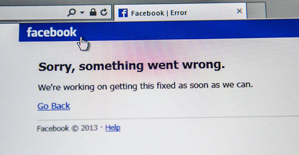 errori pagina Facebook