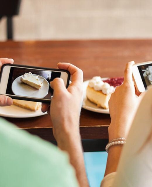 social media marketing per ristoranti, fotografie al cibo da smartphone