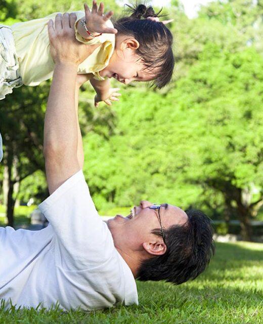 comunicazione coerente, padre con figlia